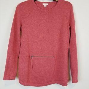 J. Jill Pure Jill cotton/cashmere orange sweater